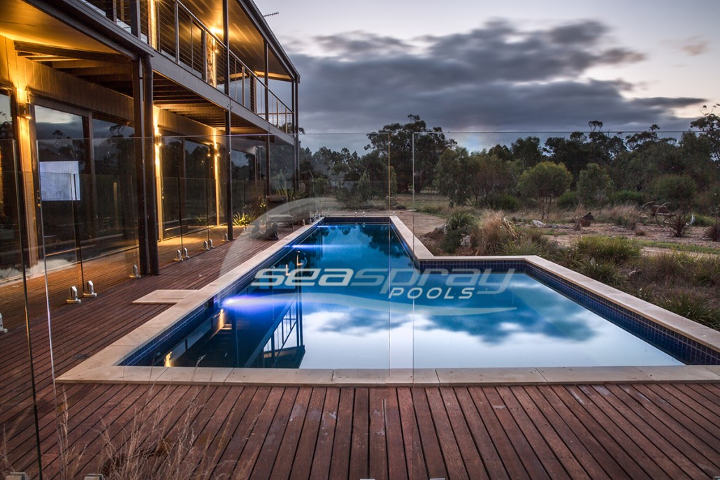 Custom lap swimming pools melbourne seaspray pools for Pool design hours